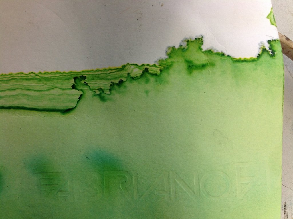 Chromatography watercolour experimentation
