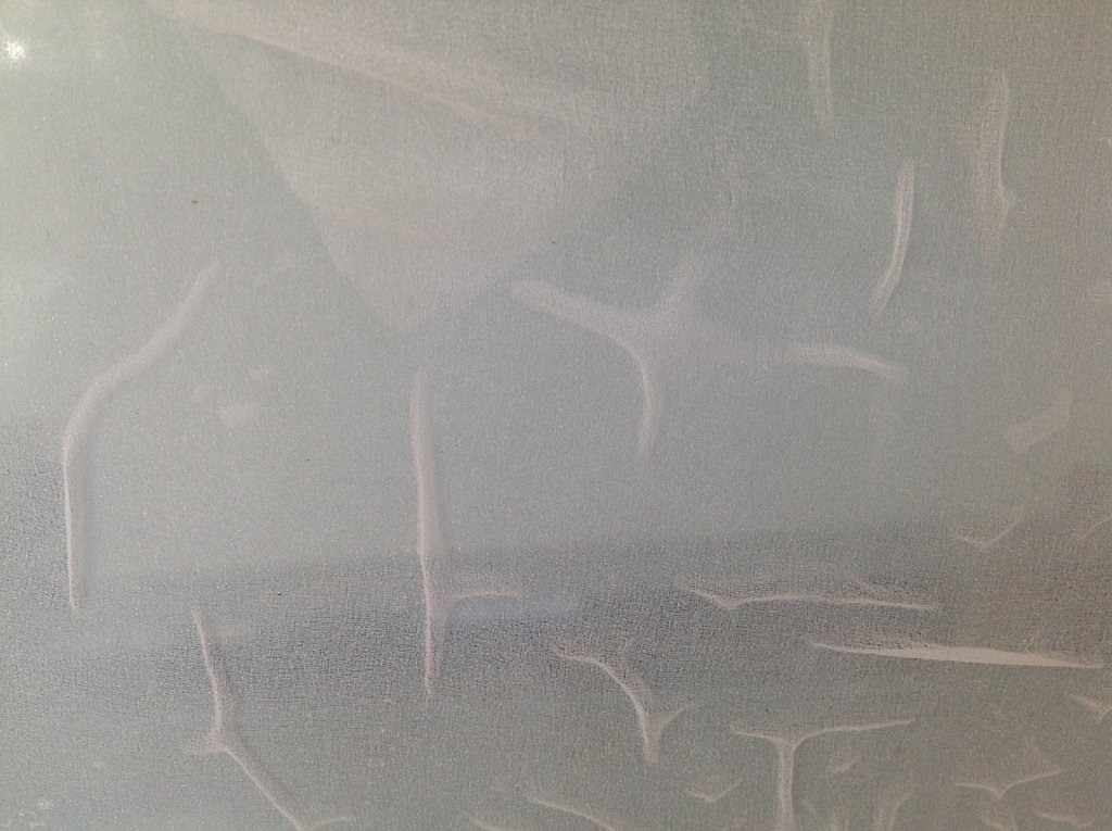 experimental surface  on glass